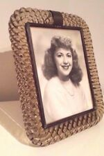 VINTAGE ART DECO VENINI MURANO GLASS TWISTED ROPE PHOTO FRAME ~ Made in Italy!
