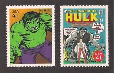 THE INCREDIBLE HULK - MARVEL - SUPERHERO - SET OF 2 U.S. STAMPS - MINT CONDITION
