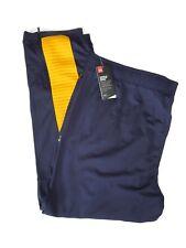 Under Armour Men's Jogger Fleece Sweat Pants Blue Navy Yellow Size 4XL $85 NEW