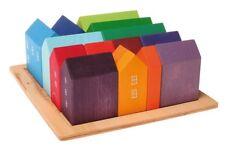 VILLA STECKFIGUR bunt Stapelfigur Haus für Kinder Holz Stapelsteine Baustein NEU Spielzeug