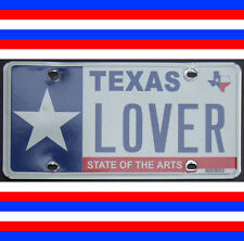 """ENDING SOON: +$135 Personalized """"Texas Lover"""" 2011 License Plate"""