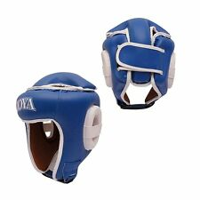 "JOYA 04200 ""COMBAT"" OPEN FACE HEAD GUARD WITH EARS - BLUE - MEDIUM"