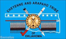 "CHEYENNE ARAPAHO TRIBE OKLAHOMA FLAG 5"" HELMET BUMPER STICKER DECAL MADE IN USA"