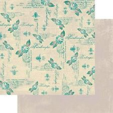Authentique Flourish 12x12 Scrapbook Paper - Plume - 2 sheets