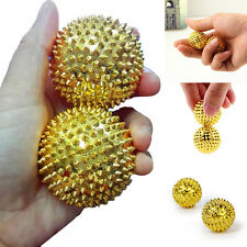 2Pcs Hand Massage Ball Body Acupressure Magnetic Spiky Massage Acupuncture Pain