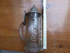 Glasbierkrug con tapa estaño 1912