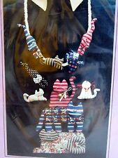 Craft Pattern by Kitty Lou 3D stuffed CAT fabric necklace Pin Brooch
