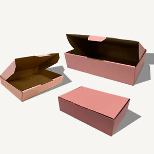 Pink Mailing Box Cardboard Shipping Packing Mailer Parcel Small Medium Large