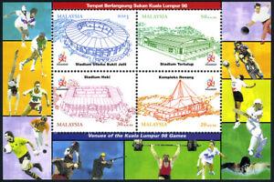 Malaisie 654 S/S, MNH Kuala Lumpur Jeux. Stade, 1998