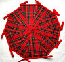 RED TARTAN BUNTING Bundles 20/40/60/120ft with RED TAPE Handmade Fabric Banner