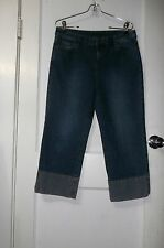 Super! Women's Blue Madison & Max Capri Stretch Denim Jeans, Sz 10