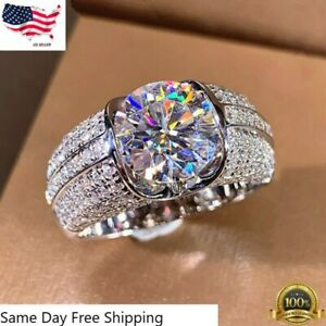 Fashion 925 Silver Rings for Women Cubic Zirconia Jewelry Gift Size 6-10