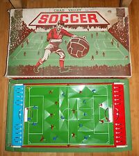 CHAD VALLEY TABLE SOCCER FOOTBALL GAME RARE 1960's BOXED TINPLATE TOY