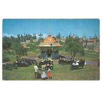 Disneyland Vintage Unused Postcard 1955 Bandstand Gazebo P12291