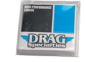 Drag Black VInyl coated Braided  Brake Line +10 Harley Wide Glide 93-05 NO ABS