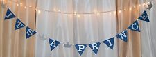 its a boy baby shower royal blue/ silver prince/crown custom name hanging banner