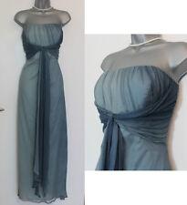MONSOON Duck Egg  DITA Silk Strapless Bridal Party Maxi Dress UK 14  EU 42 £160