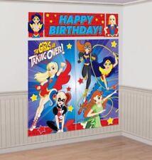 DC Super Hero Girls Scene Setter Back Drop Decorations Licensed