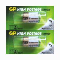 2 x Genuine GP 11A MN11 A11 GP11A E11A L1016 6v Batteries Use By Date 2021