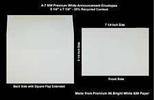 A-7 60# Premium White Square Flap Recycled Announcement Envelopes - 1000 Per Ctn