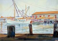 Henri Pierre Portier (1914-1977) Listed Canadian Artist Maritime Watercolor