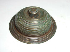 "antique ""Beehive"" solid Brass DOOR BELL PUSH Button, working Victorian Reeded"