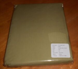 New The Company Store Style E4S6 Twin Size Fitted Sheet Olive Green 100% Cotton