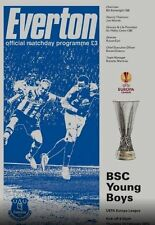 EVERTON v BSC YOUNG BOYS EUROPA LEAGUE 2014/15 MINT PROGRAMME 2015