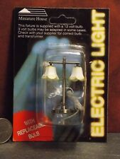 Dollhouse Miniature Electric Light Modern Table Lamp Tulip  1:12 inch scale J8