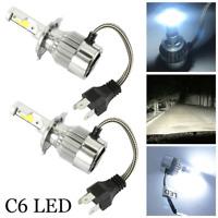 2x H4 C6 LED Car Headlight Conversion Kit 72W 7600LM Hi/Lo Beam Bulb 6000K Lamp