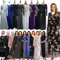 Dubai Abaya Muslim Women Long Dress Islam Jilbab Party Maxi Gown Robe Kaftan New