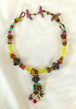 Funky ORNA LALO Resin Colorful Necklace or Choker