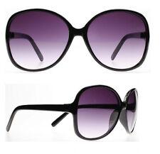 Ladies Dark Womens Vintage Butterfly Plastic Retro Sunglasses Black Oversize New