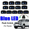 12V Blue LED Horizontal Push Switch Fit For Toyota  Hilux Landcruiser Prado