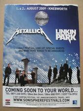 Knebworth 2009 - Metallica  - magazine press advert poster 12 X 8 INCH