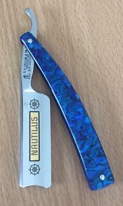 7/8 Straight Razor, Cut Throat,Blue Paua Shell ,Australian Made
