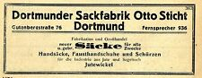 Dortmunder sacco fabbrica otto picchia Dortmund SACCHI storica la pubblicità 1925
