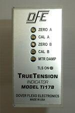 DFE DOVER FLEXO ELECTRONICS TI17B 115/230VAC 160/80mA TRUETENSION INDICATOR