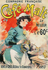 French cafe Malt Café Paris DECO Poster Print