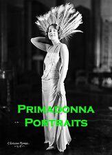 NORMA SHEARER 8X10 Lab Photo B&W '20s GLAMOUR GOWN PORTRAIT Photographer, MONROE