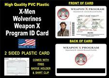 X-Men - Wolverine's ID Badge / Card Prop - James Logan Weapon X ID - Cosplay PVC