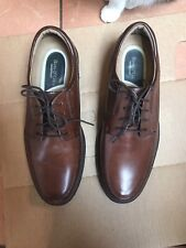 Bass-Norwood Genuine Leather Lace-Up Oxford Brown Shoe Sz 10.5 M NOS New