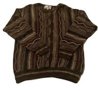 Vintage Coogi Style Sweater 3d Knit XL Cosby Hip Hop Biggie Florence Tricot 90s