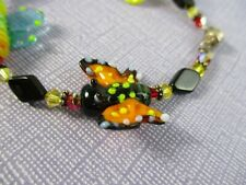 New ListingFun Art Glass Insect Butterfly Bee Ladybug Crystal Bracelet