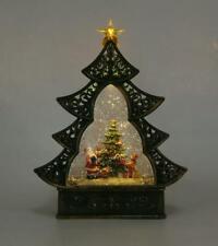 Traditionell LED Weihnachtsbaum Krippenspiel Wasser Glitzer Schnee Wohndeko