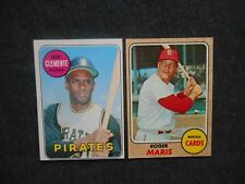 1968 1969 Topps #50 #330 Roberto Clemente Roger Maris Card Lot 2 Pirates SHARP!!