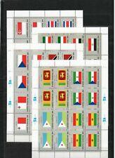 S27028) United Nations ( Ny) 1981 MNH New Flags 16v ( Ms x4)