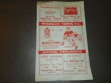 More details for wisbech town  v  march town  1951/2  f.a.cup 1st prelim  ~ september 22nd derby