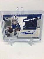 2020 Donruss CeeDee Lamb Rookie Phenoms RC Patch Auto #95/99 Dallas Cowboys
