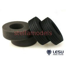Tractor Truck Tires with inserts (30mm, 1Pr.) for Tamiya 1/14 (LESU, S-1216)